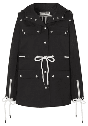 Courrèges - Convertible Hooded Cotton-drill Jacket - Black