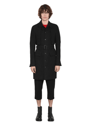 Lined Single Breast Cotton Trench Coat