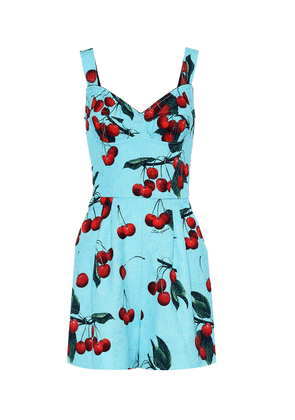 Exclusive to Mytheresa – cherry printed cotton-blend playsuit