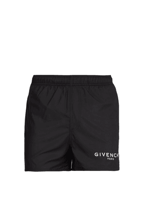 Givenchy - Logo Printed Swim Shorts - Mens - Black