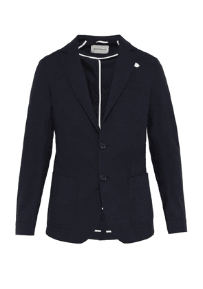 Oliver Spencer - Theobald Single Breasted Cotton Needlecord Blazer - Mens - Navy