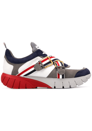 Thom Browne Rwb Webbing Raised Running Shoe - White