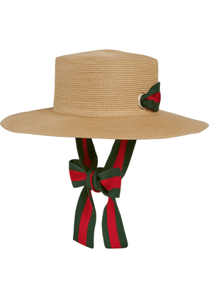 Gucci boater hat - Brown