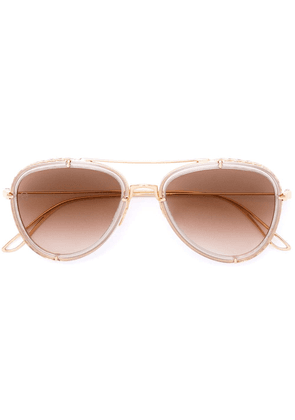 Elie Saab aviator sunglasses - Metallic