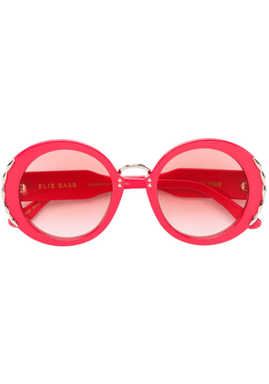 Elie Saab round-frame sunglasses - Red