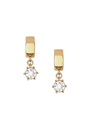 Burberry Crystal Charm Gold-plated Nut Earrings