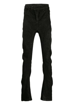 11 By Boris Bidjan Saberi dyed and embroidered jeans - Black