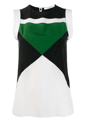 Givenchy geometric panelled sleeveless top - White