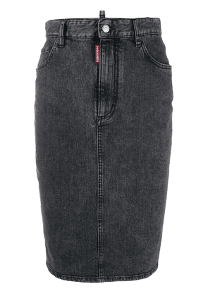 Dsquared2 pencil denim skirt - Black