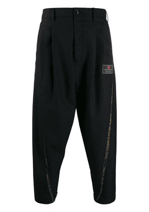 Doublet selvedge line cropped trousers - Black