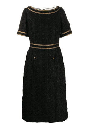 Gucci Tweed dress with decorative trim - Black