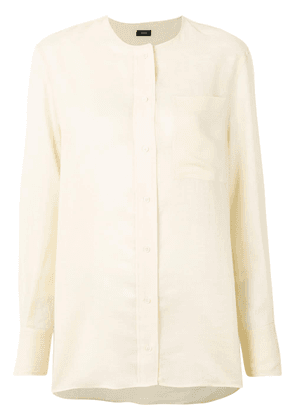 Joseph long sleeved concealed blouse - Yellow