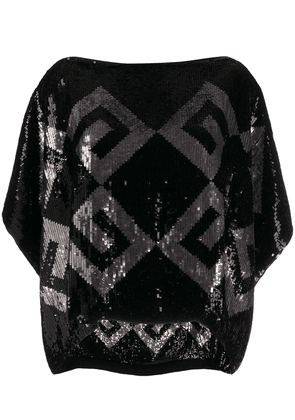 Givenchy boat neck sequinned top - Black