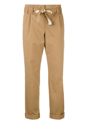 Dorothee Schumacher belted straight trousers - Brown