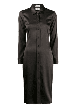Bottega Veneta high shine shirt dress - Brown