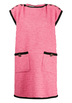 Gucci tweed contrast trim shift dress - Pink
