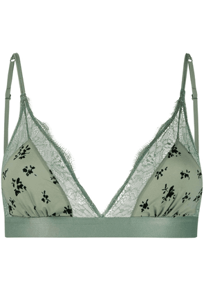 Love Stories printed soft-cup bra - Green