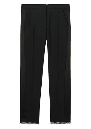 Burberry Ring-pierced Wool Tailored Trousers - Black