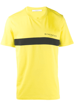 Givenchy front stripe print T-shirt - Yellow
