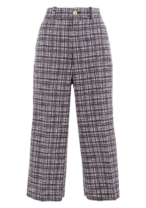 Gucci check patterned cropped trousers - Blue