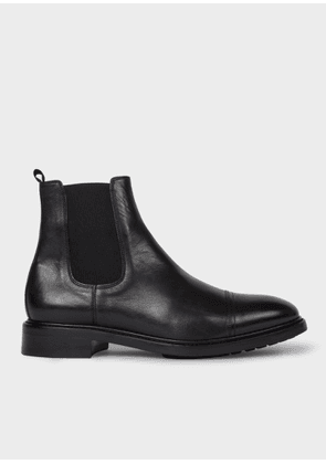 Men's Black Leather 'Jake' Chelsea Boots