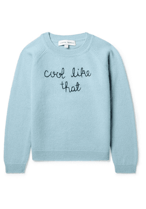 Lingua Franca Kids - Ages 2 - 6 Cool Like That Embroidered Cashmere Sweater