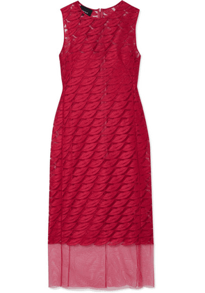 Akris - Embroidered Tulle And Silk Dress - Pink