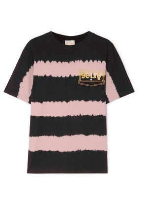 Aries - Printed Tie-dyed Cotton-jersey T-shirt - Pink
