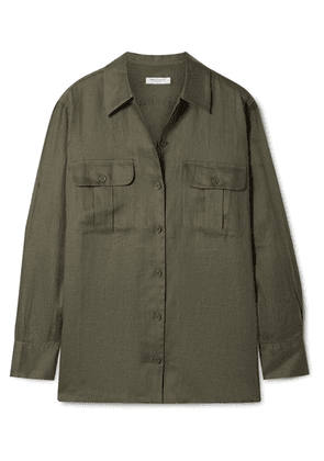 Equipment - Videlle Linen Shirt - Army green