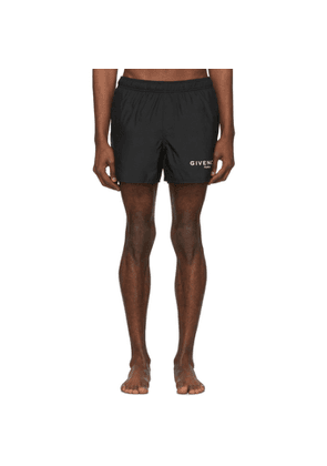 Givenchy Black 'Paris' Swim Shorts