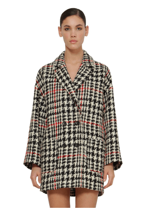 Prince Of Wales Double Breasted Coat