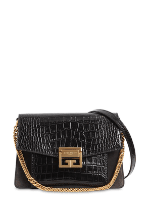 Small G3 Croc Embossed Leather Bag