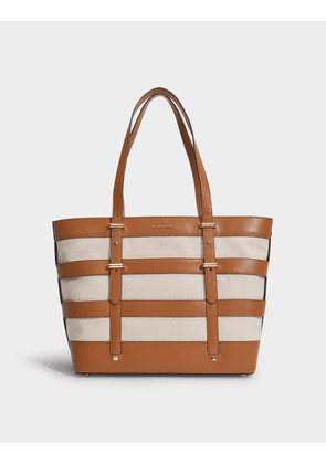 Marie Cage Tote in Natural Canvas