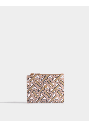 Simone Purse in Beige TB Monogramed Leather