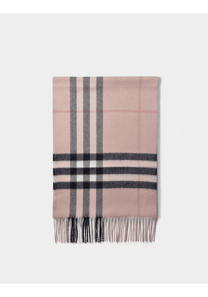 Giant Icon Check Scarf in Ash Rose Cashmere