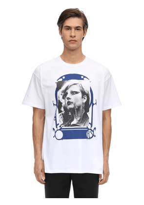 Oversized Pierced Mouth Printed T-shirt