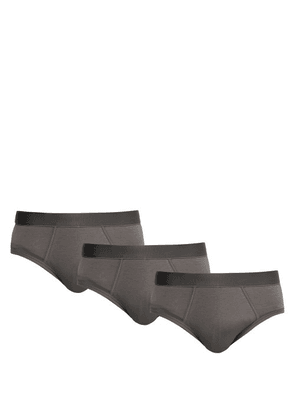 Cdlp - Pack Of Three Stretch Jersey Briefs - Mens - Grey