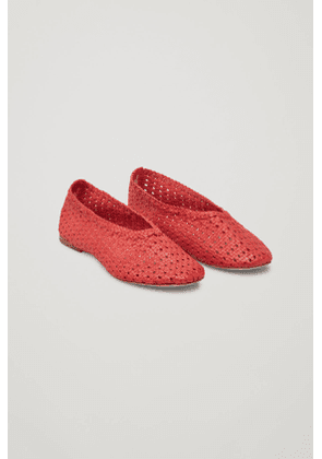 BRAIDED LEATHER SLIP-ON SHOES