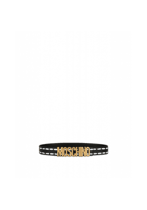 Belt With Logo And Stitching Print