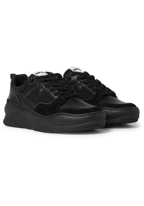 AMI - Suede And Leather Sneakers - Black