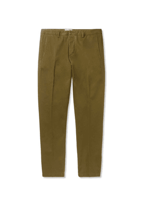 AMI - Slim-fit Cotton-twill Chinos - Green