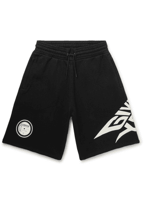 Givenchy - Glow-in-the-dark Logo-print Loopback Cotton-jersey Shorts - Black