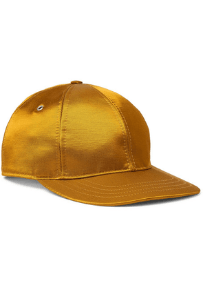 AMI - Logo-appliquéd Satin-twill Baseball Cap - Gold