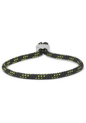 Alice Made This - Bradshaw Striped Cord And Stainless Steel Bracelet - Black