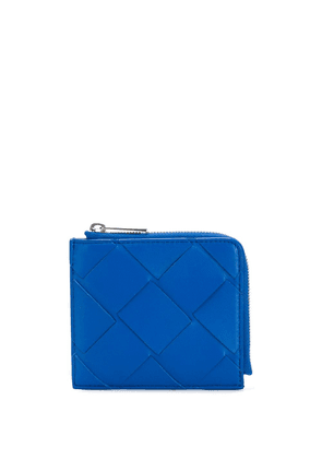 Bottega Veneta small woven wallet - Blue