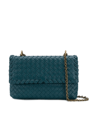 Bottega Veneta woven crossbody bag - Blue