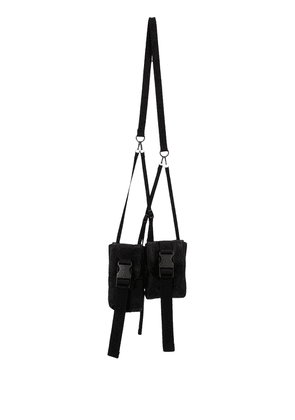 The Viridi-Anne double neck pouch - Black