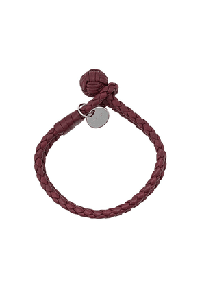 Bottega Veneta Intrecciato double bracelet - Red