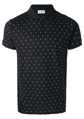 Saint Laurent basic polo shirt - Black