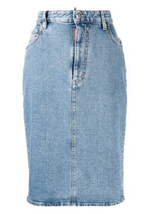 Dsquared2 denim pencil skirt - Blue